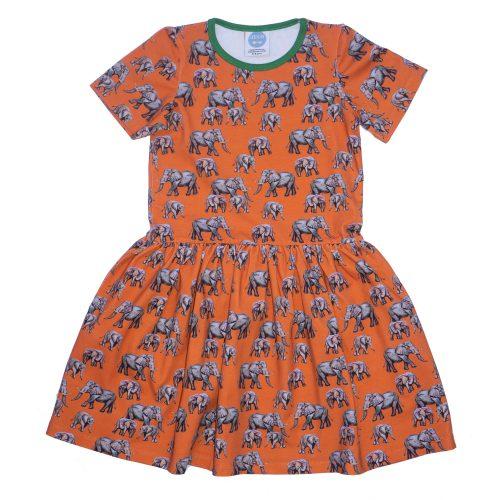 Orange Elephant Dress