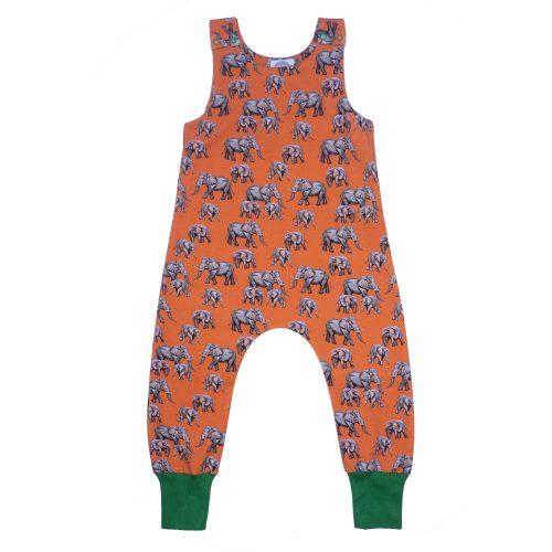 Orange Elephant Dungarees
