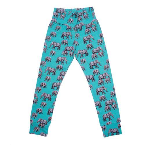 Aqua Elephant Leggings